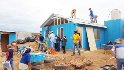 house building on mission trip