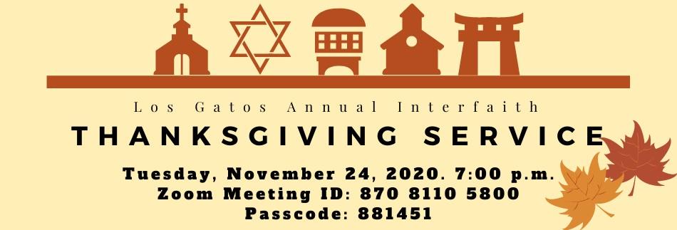 Los Gatos Interfaith Thanksgiving Service